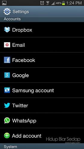 setting account