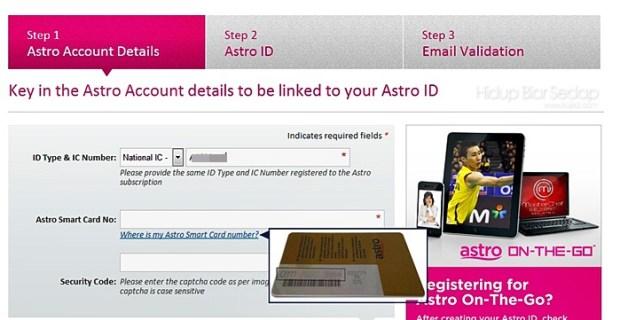 cara register asto on the go