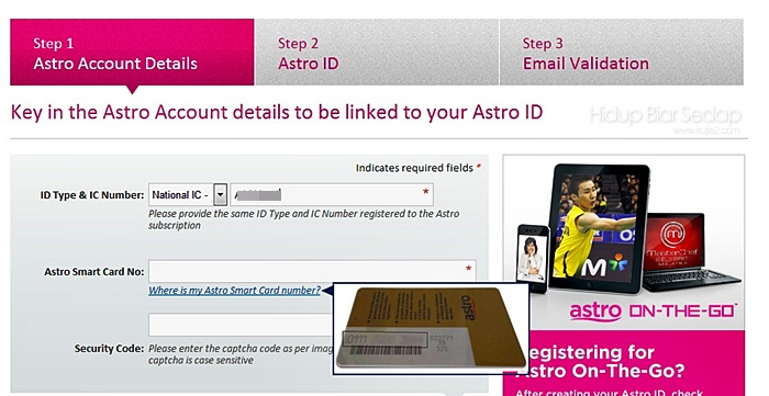cara register asto on the go