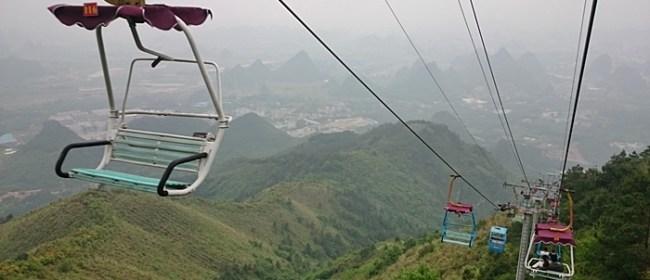 Naik Ski Lift Ke Gunung Yao Guilin