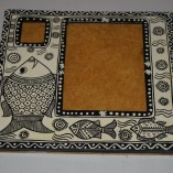 paper mache fish painted picture frame