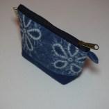 blue-Vegetable dye small purse