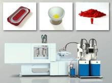 Elmet präsentiert seine Dosier- und Werkzeugtechnologie für die Verarbeitung von Flüssigsilikonkautschuk auf dem eigenen Stand.   Foto: Elmet