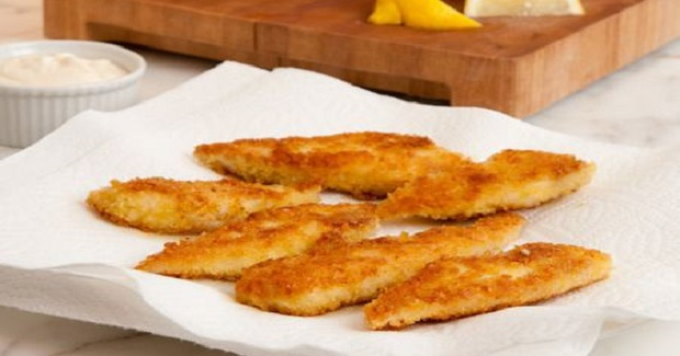 Crispy Tilapia Fingers With Lemon & Garlic Mayonnaise Recipe
