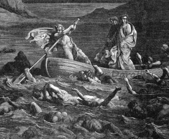 Virgil, Dante and the boatman, Phlegyas
