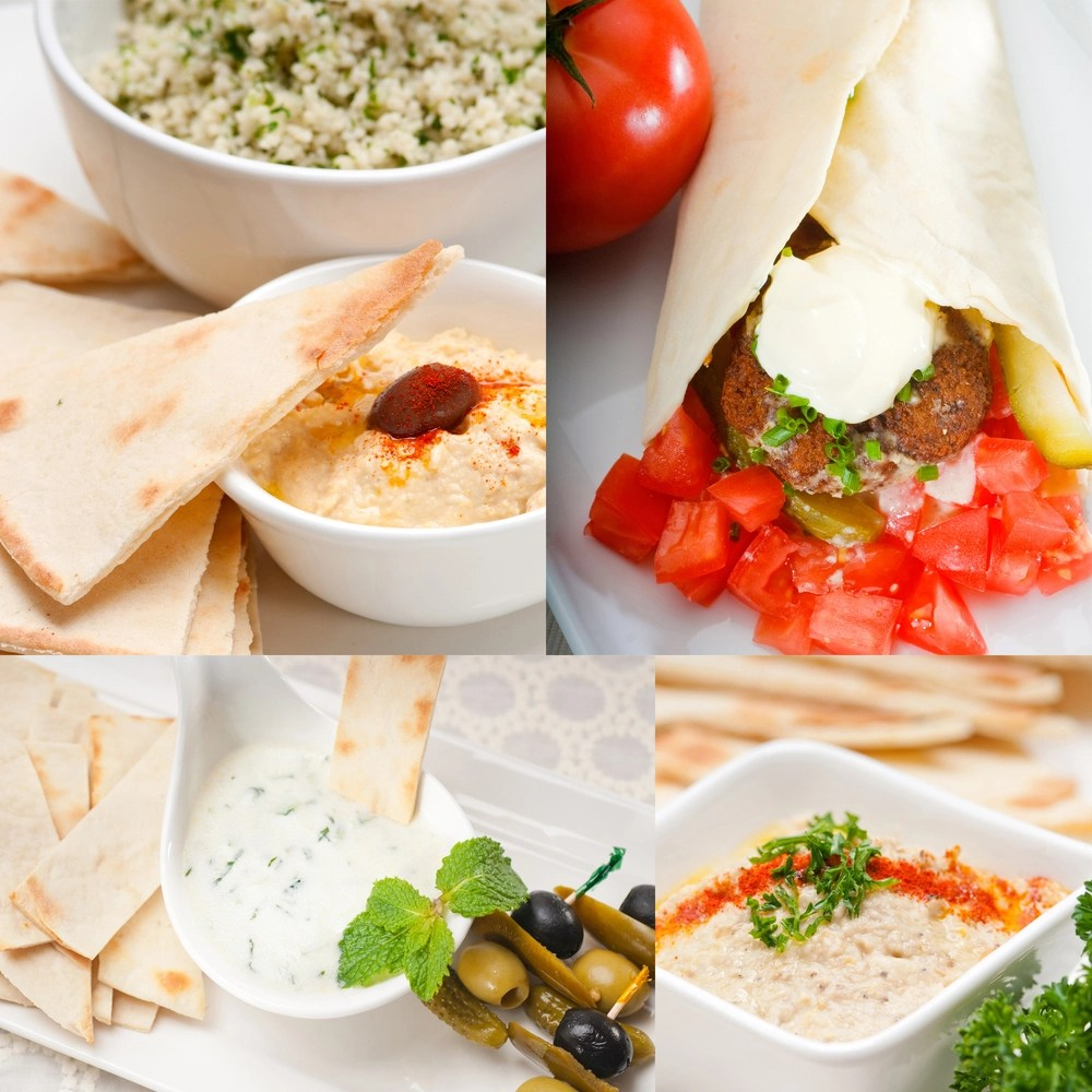 israeli food collage