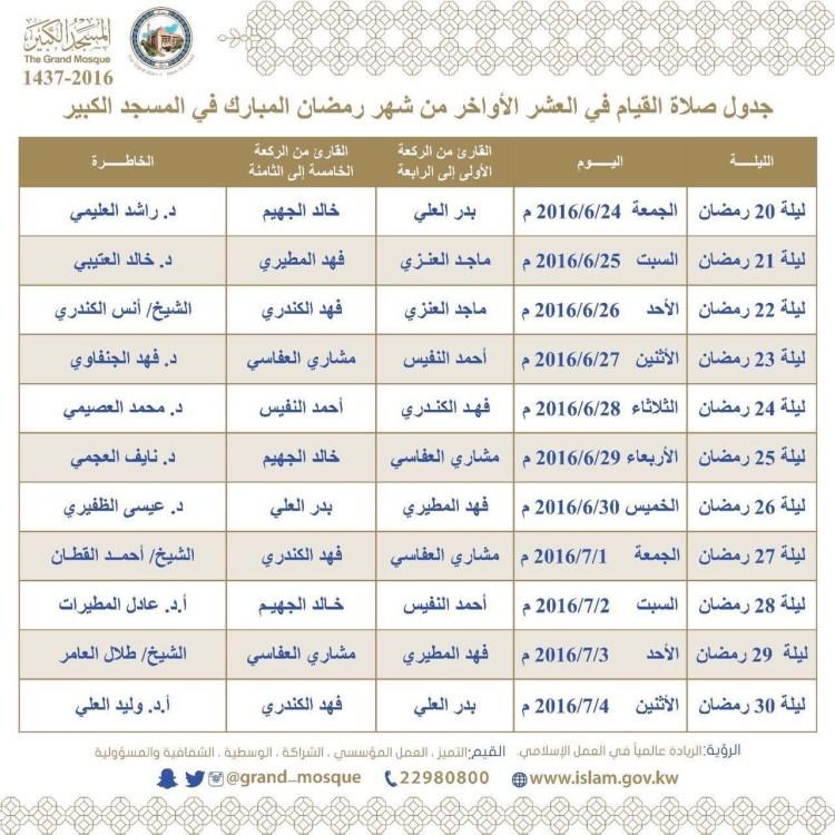 صلاة القيام الكويت العاصمة المسجد الكبير