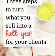 Turn what you sell online into a hell yes for your clients!