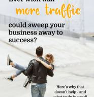 Don't let low traffic on your business website disctract you from problems you can solve. What you can work on today to set yourself up for success.