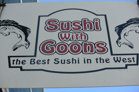 Is Sushi without Goons an extra charge?  I'd like to get that to go.