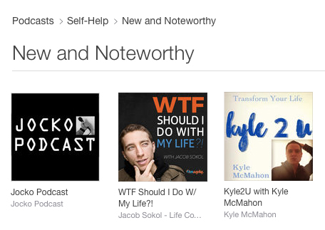 Apple iTunes names Kyle2U New and Noteworthy. Kyle McMahon's show debuted this month.
