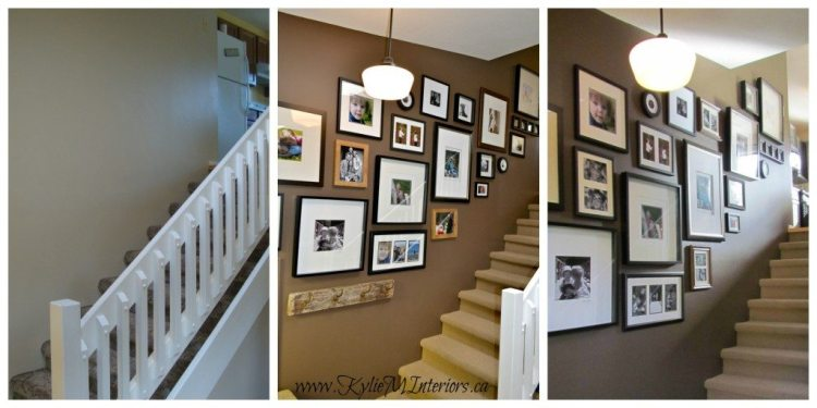 How to make a photo display or gallery in stairway ideas - Stairway photo gallery ideas ...