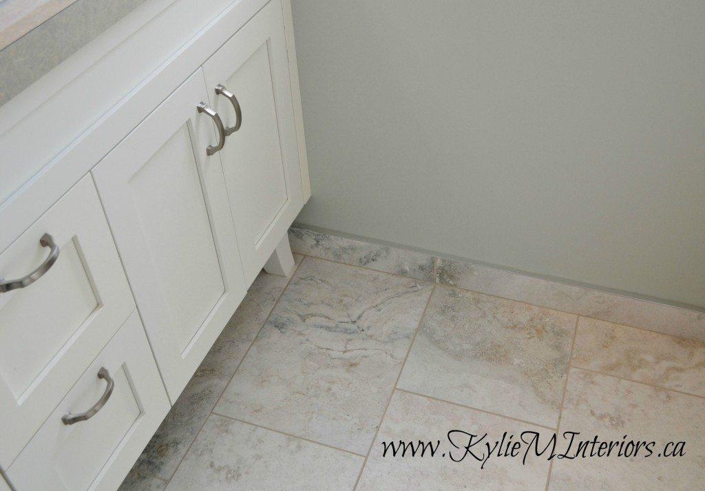 Tile baseboard in bathroom 12 x 24 porcelain tiles white for Baseboard ideas for bathroom