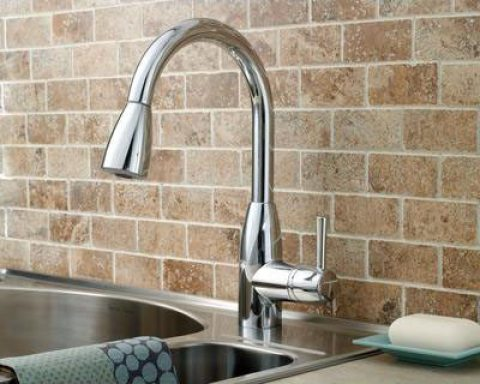 budget friendly kitchen update idea faucet