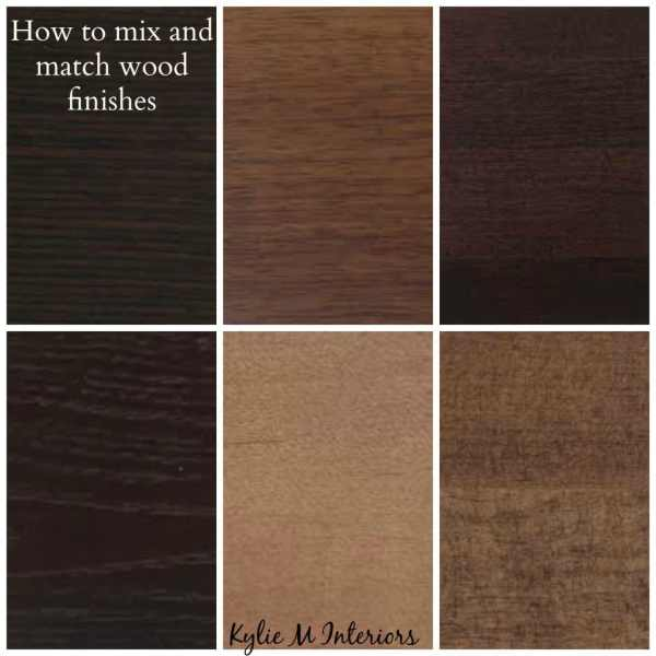 How to Mix Match and Coordinate Wood Stains Undertones : ideas for how to mix match and coordinate wood finishes and stains like oak cherry maple espresso pine and more for cabinets flooring and furniture from www.kylieminteriors.ca size 600 x 600 jpeg 57kB