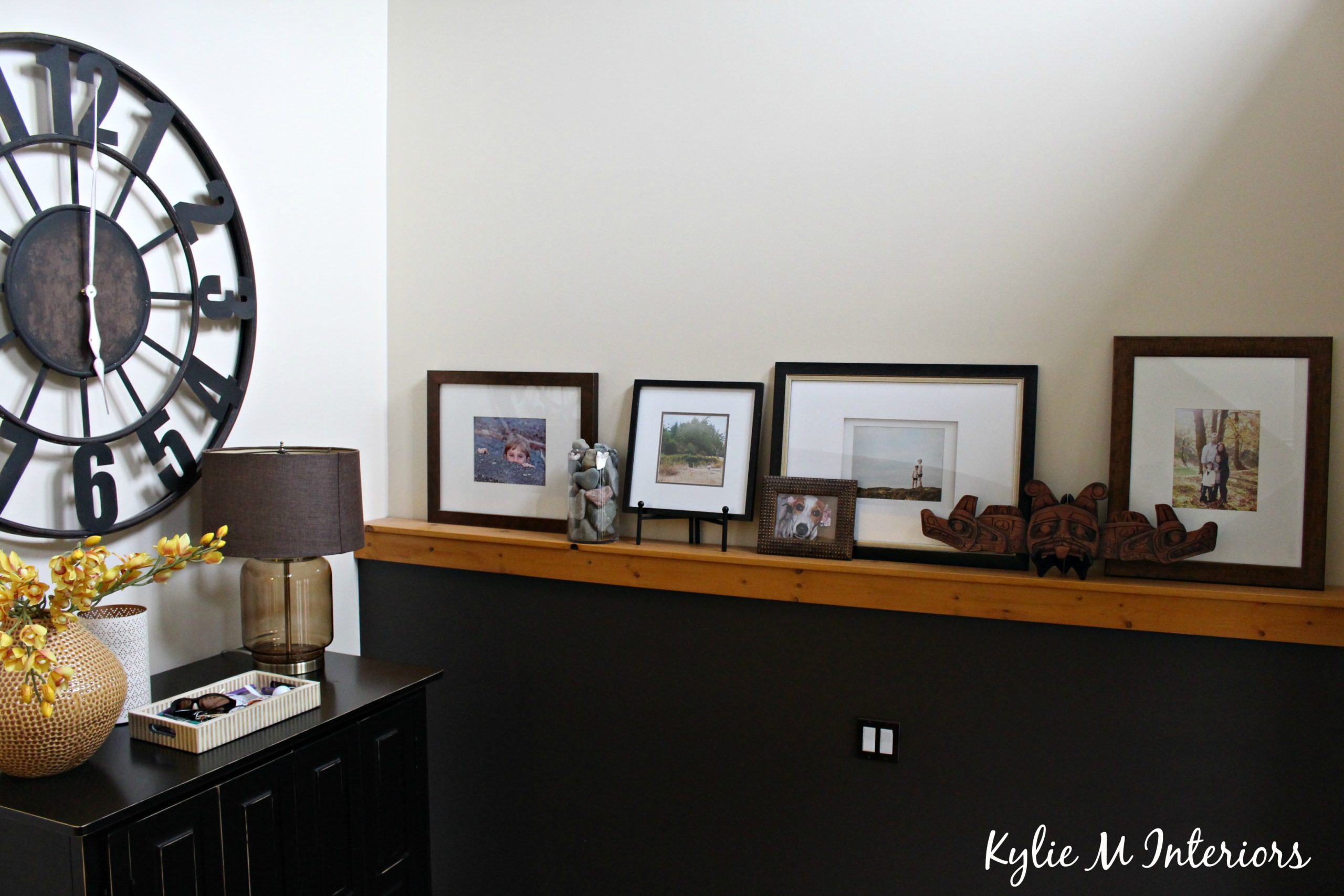 Large Clock In Foyer : Decor ideas for a foundation wall with artwork in an