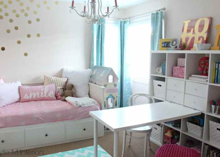 Cutie patootie girls bedroom soft pink and gold for Girls bedroom ideas ikea