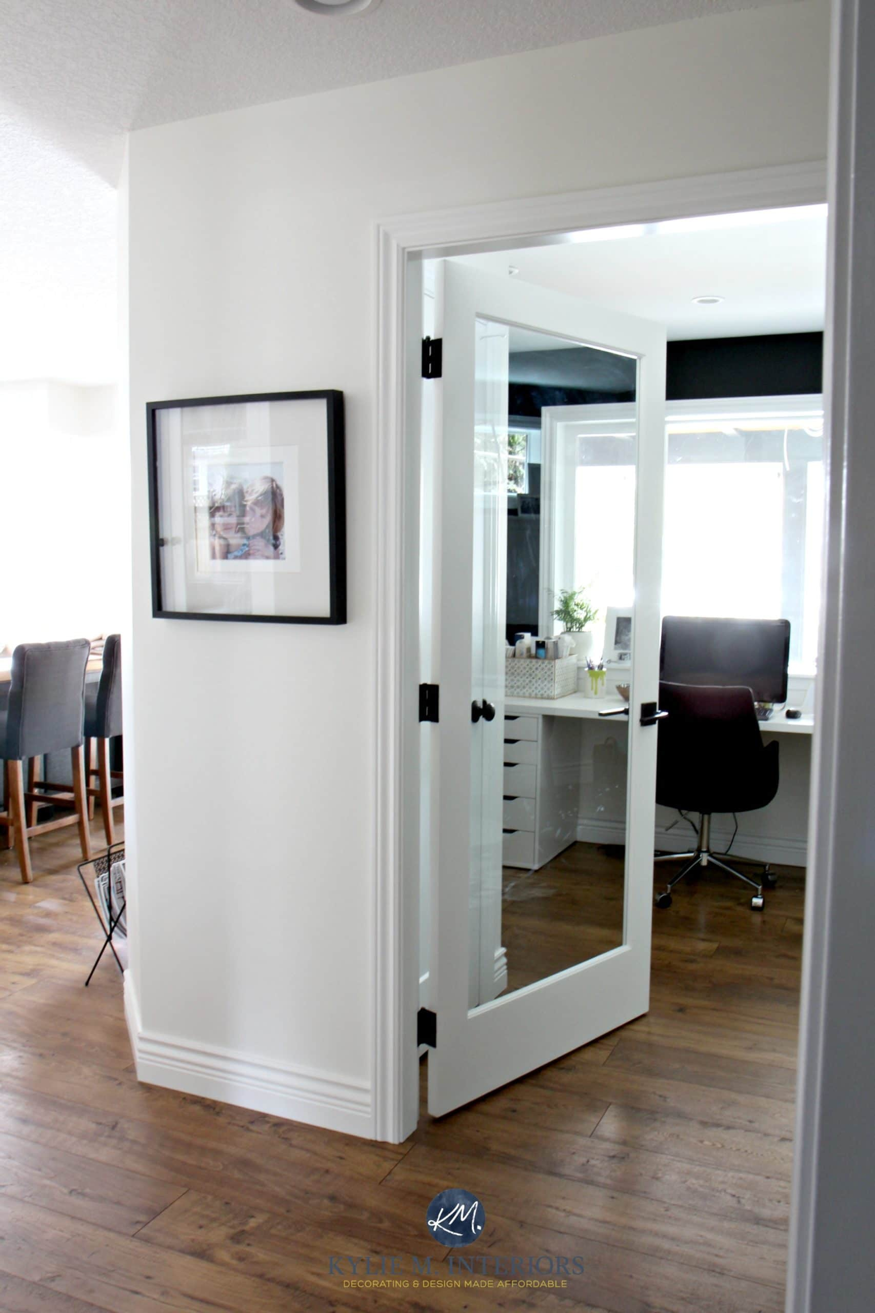 Especial Sherwin Williams Creamy Color Consulting Sherwin Williams Creamy Blackfeature Or Accent Kylie M Interiors Glass French Door Into Home Office With Glass French Door Into Home Office houzz-03 Sherwin Williams Creamy