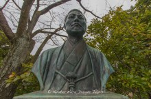 Memorial statue of Kondō Isami (近藤 勇, October 9, 1834 – May 17, 1868), founder of Shinsengumi (新選組) police force