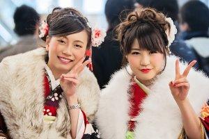 Two_Beautiful_Japanese_Girls_Coming_of_Age_Day_Seijin_No_Hi