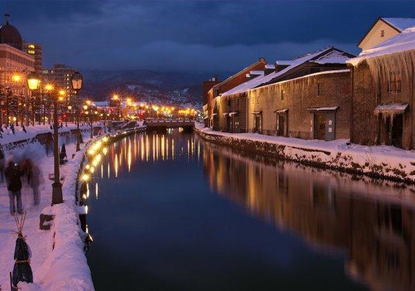otaru_canal_night_view_in_winter_hokkaido