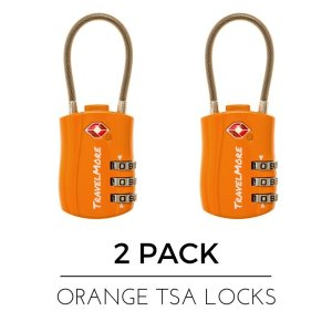 Travel Combination Cable Luggage Locks for Suitcases & Backpacks