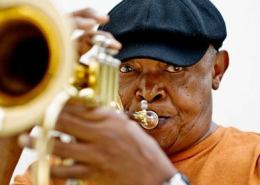 Hugh Masekela! Legendary South African trumpeteer. His music is great.