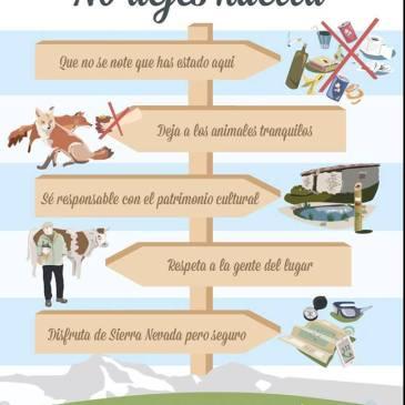 ¡No dejes huella! – Parque Nacional  y Parque Natural Sierra Nevada