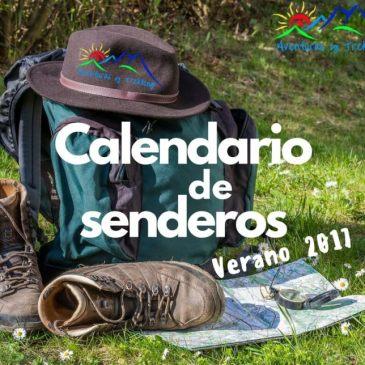 Calendario de Senderos para el Verano 2017