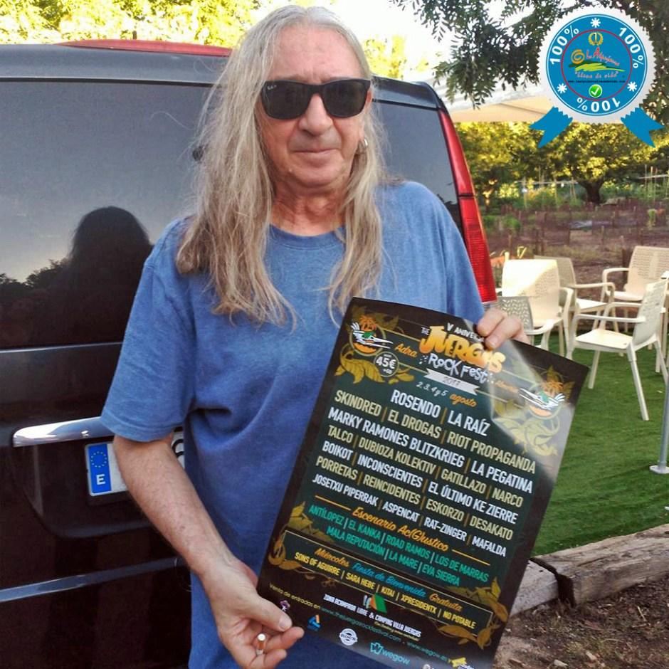 The Juergas Rock Festival - Adra - La Alpujarra - Almería 2017 - Rosendo presentado el cartel oficial