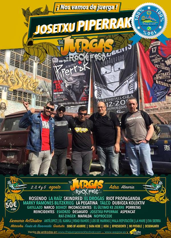 The Juergas Rock Festival - Adra - La Alpujarra - Almería 2017 - Grupo 19