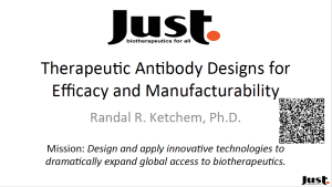 Randal Ketchem, Therapeutic Antibody Designs for Efficacy and Manufacturability Presentation