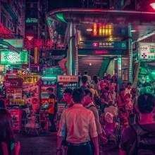 Le néo Hong Kong baigné dans les néons