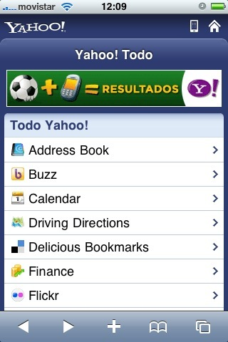 new yahoo mobile