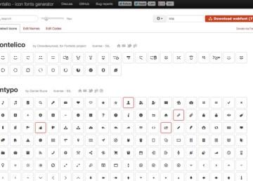 Crea tu propia tipografía de iconos con Fontello
