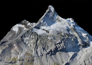 Crean un modelo en 3D del monte Cervino usando mini drones