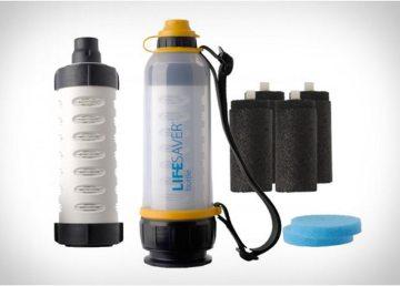Lifesaver, la botella salvavidas que esteriliza el agua