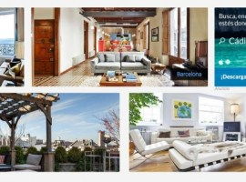 Aplicación móvil de HomeAway para reservar o encontrar apartamento turístico
