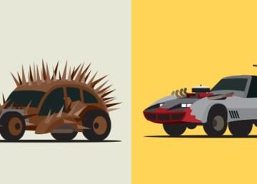 Estramboticos vehiculos Mad Max vistos ilustrador Scott Park
