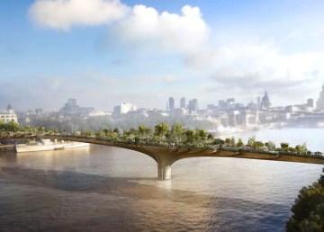 Londres proyecta nuevo puente ajardinado Tamesis