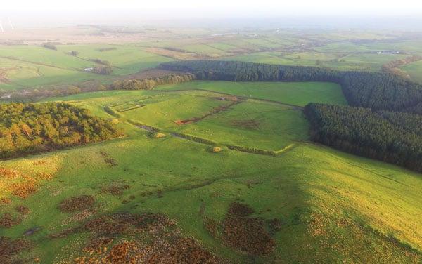 Uno de los campamentos romanos de Burnswark Hill
