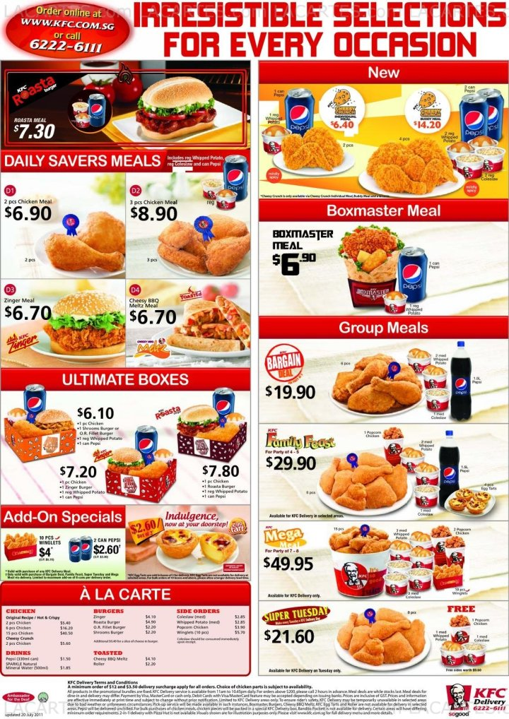 Kfc Meals And Prices 2015