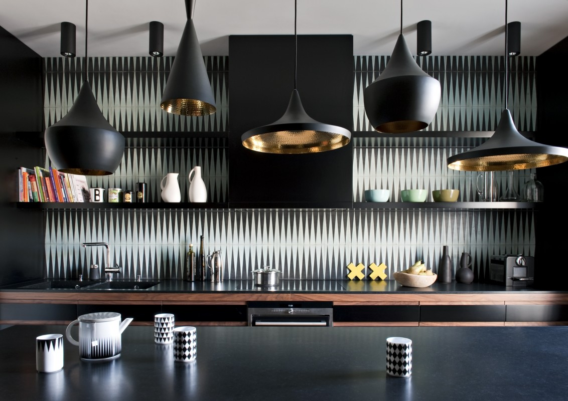 Mix match contemporary kitchens cement tiles for Double g architecture