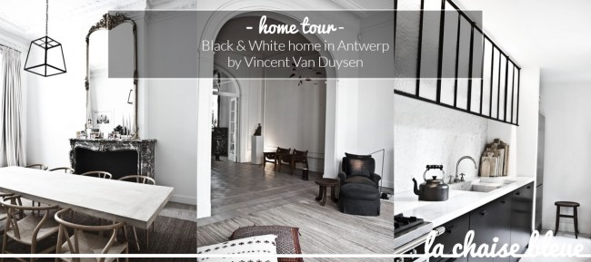 B&W home in Antwerp, by Vincent Van Duysen, selected by La Chaise Bleue (lachaisebleue.com)