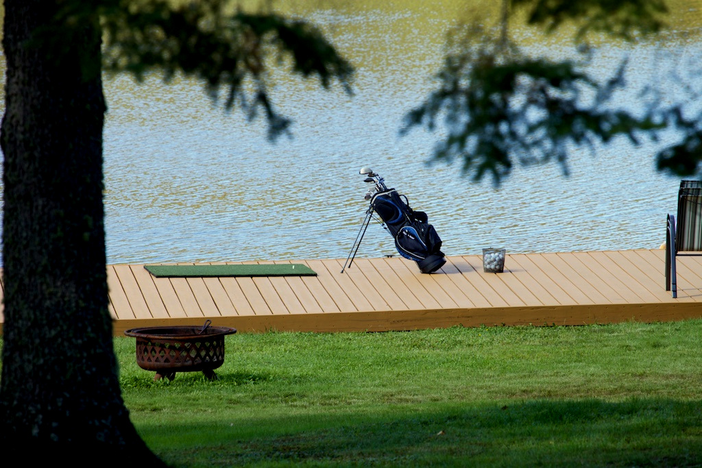 golf from lakeside dock