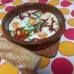 Huevos al plato o huevos a la cazuela