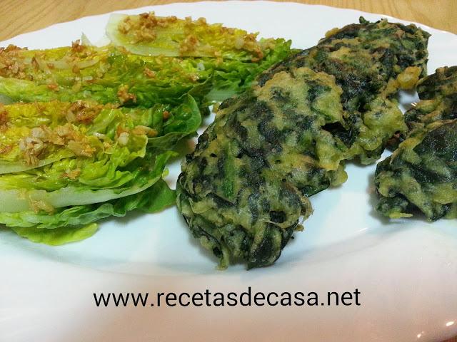receta de cogollos a la cordobesa con crujiente de espinacas cocina facil