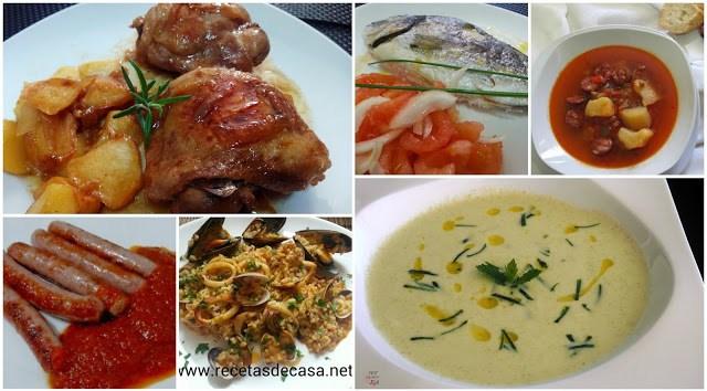 recetas para menu semanal