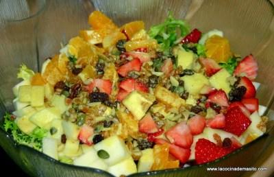 ensalada de frutas con salsa de mostaza y naranja cocina facil