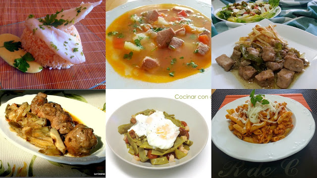 menu semanal 5 siete días siete platos cocina facil